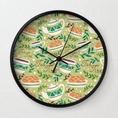 Tea Time Pattern Wall Clock