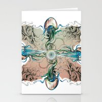 clockwork Stationery Cards featuring clockwork by Dominic Damien