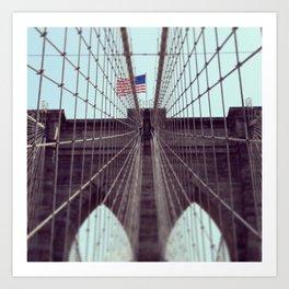 Pont De Brooklyn  Art Print