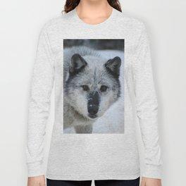 Lone wolf roams the Canadian Rockies Long Sleeve T-shirt