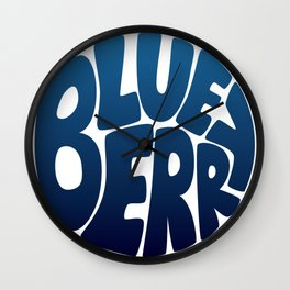 Typo' Blueberry Wall Clock