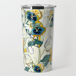 vintage floral pattern 3 Travel Mug