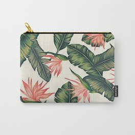 Palm Leaf & Flower Print Carry-All Pouch