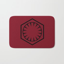 The First Order on Crimson Red Bath Mat