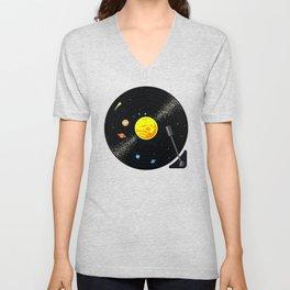 Solar System Vinyl Record Unisex V-Neck