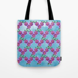 Purple Flowers Pattern Tote Bag