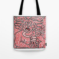 keith haring Tote Bags featuring Keith Haring by cvrcak