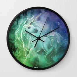 rainblow unikorn Wall Clock