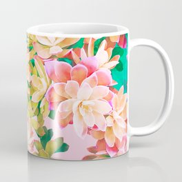 Cactus Fall - Pink and Green Coffee Mug