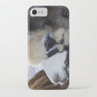 alpaca iPhone & iPod Cases featuring Alpaca by Deborah Janke