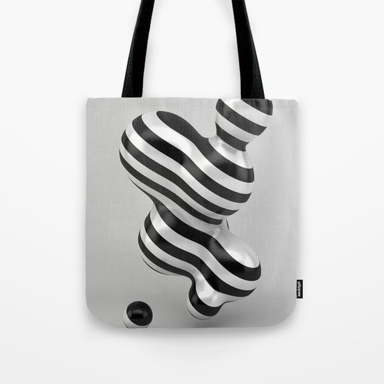 Primitive Stripes Tote Bag