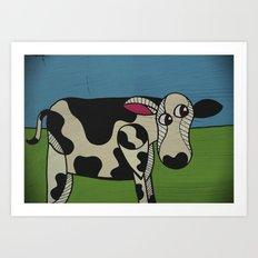 Uncooked Beef. Art Print