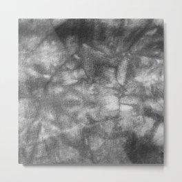 Black and White Tie Dye Metal Print