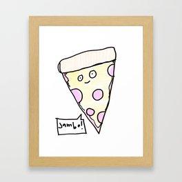 Jambo! Pizza! Framed Art Print