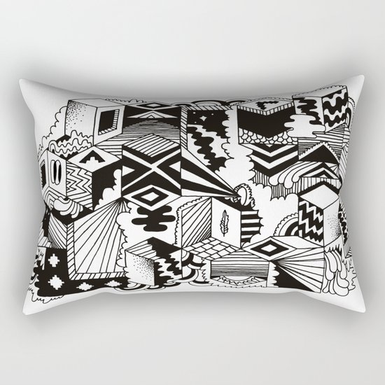 Cube-ular Rectangular Pillow