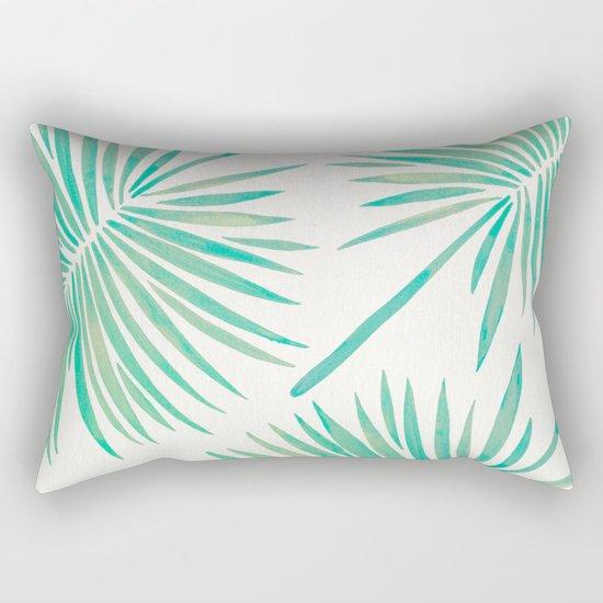 Tropical Fan Palm – Mint Palette Rectangular Pillow