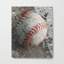 Baseball art Metal Print