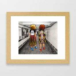 Brooklyn Girls Framed Art Print