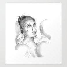 Crowded Silence  Art Print