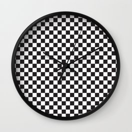 Classic Checkerboard Pattern Wall Clock
