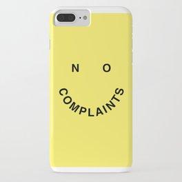No Complaints Yellow + Black iPhone Case