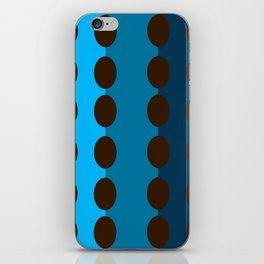 Coffee beans on blue iPhone Skin