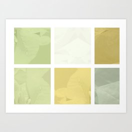 Pale Yellow Poinsettia 1 Abstract Rectangles 1 Art Print