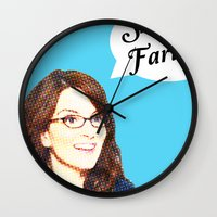 valar morghulis Wall Clocks featuring Shark Farts by beatrice