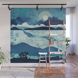 Blue Desert Wall Mural