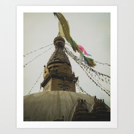 Exploring the City of Kathmandu in Nepal Art Print