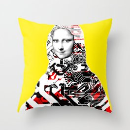 Mona Lisa Platina 2 Throw Pillow