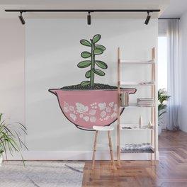 Jade Plant in Pyrex Wall Mural