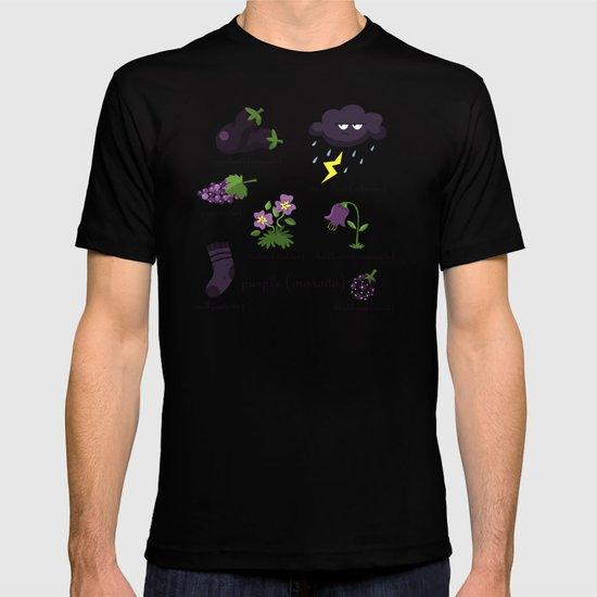 Colors: purple (Los colores: morado) T-shirt