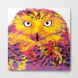 Rainbow Owl Metal Print
