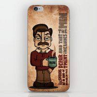swanson iPhone & iPod Skins featuring Ron Swanson by maykel nunes