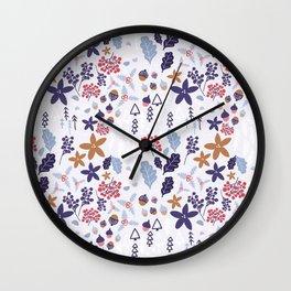 Winter Holiday Pattern Wall Clock