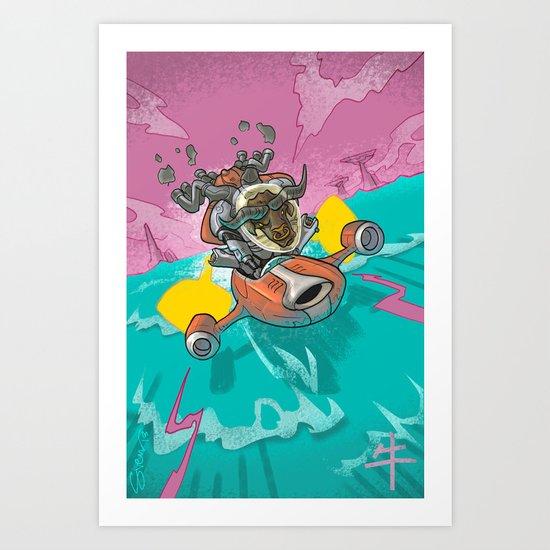 Astro Zodiac Force 02:  Ox Art Print