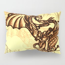 Battling Dragons - Mythical Creatures Pillow Sham