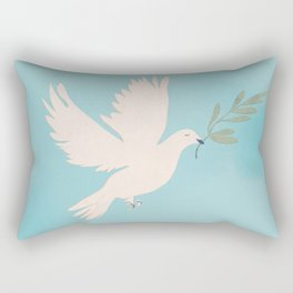 Dove of Peace with Olive Branch Rectangular Pillow