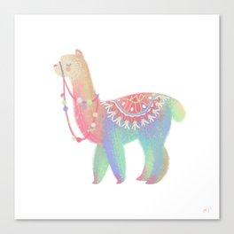 Colorful Alpaca Canvas Print