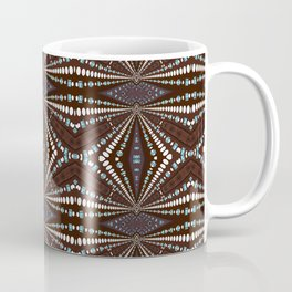 Chocolate Aqua Tribal Sunray Coffee Mug