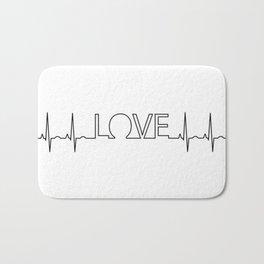 Love EKG Bath Mat