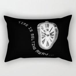 Salvador Dali Inspired Melting Clock. Time is melting away. Rectangular Pillow