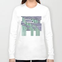 stripes Long Sleeve T-shirts featuring Stripes by Take F1ve