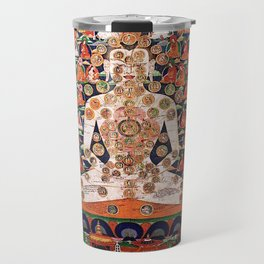 Buddhist Body Mandala Chakra  Travel Mug