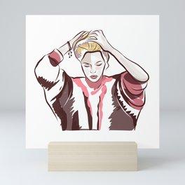 Beautiful women Mini Art Print