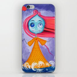 Windy - The Girl Of The Wind iPhone Skin