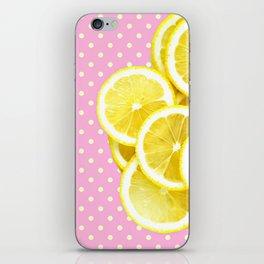 Candy Pink and Lemon Polka Dots iPhone Skin