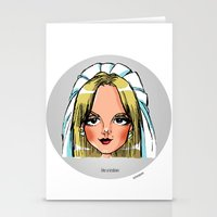 lesbian Stationery Cards featuring Britney Cartoon: Like A Lesbian by Eduardo Sanches Morelli