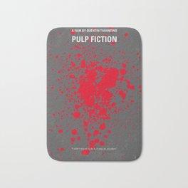 No067 My Pulp Fiction minimal movie poster Bath Mat